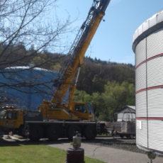 Sanierung der Faultürme Kläranlage Marburg-Cappel
