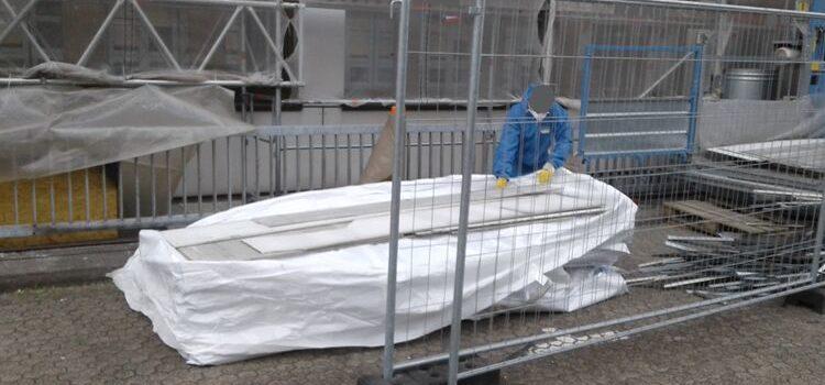 Fassadensanierung von asbestfaserhaltigen Faserzementplatten