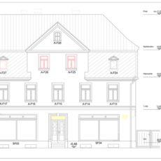 Sanierung Wohn- und Geschäftshaus der Busch-Platz-Stiftung in Hanau, Bauteil A