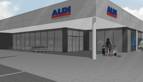 Neubau Aldi Markt in Niederweimar
